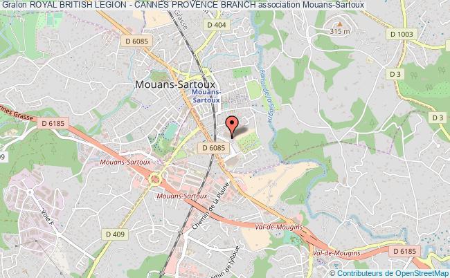 plan association Royal British Legion - Cannes Provence Branch Mouans-Sartoux