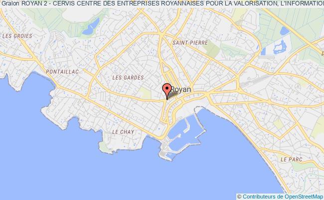 plan association Royan 2 - Cervis Centre Des Entreprises Royannaises Pour La Valorisation, L'information Et Les Services Royan