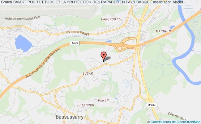 plan association Saiak : Pour L'etude Et La Protection Des Rapaces En Pays Basque