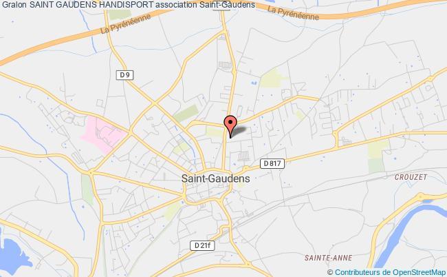 plan association Saint Gaudens Handisport Saint-Gaudens