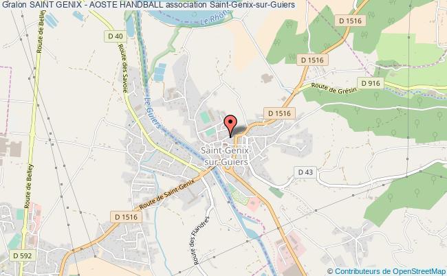plan association Saint Genix - Aoste Handball