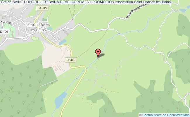 plan association Saint-honore-les-bains Developpement Promotion Saint-Honoré-les-Bains