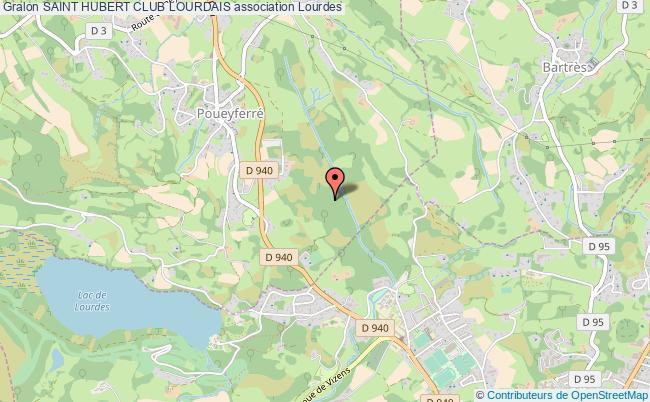 plan association Saint Hubert Club Lourdais Lourdes