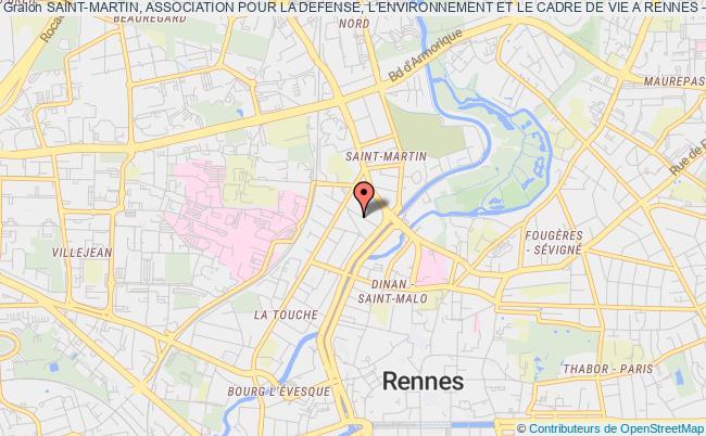 plan association Saint-martin, Association Pour La Defense, L'environnement Et Le Cadre De Vie A Rennes - Smadec Rennes