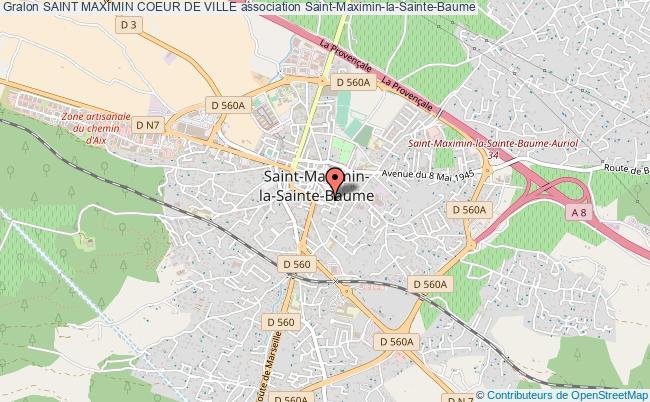 plan association Saint Maximin Coeur De Ville