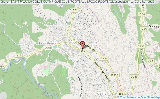 plan association Saint Paul La Colle Olympique Club Football Spcoc Football