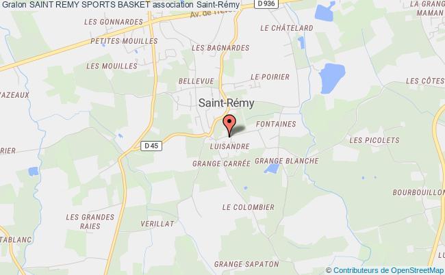 plan association Saint Remy Sports Basket Saint-Rémy