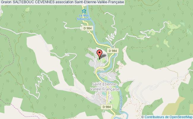 plan association Saltebouc CÉvennes Saint-Étienne-Vallée-Française