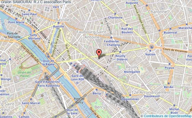 plan association Samourai  R.j.c Paris 12e