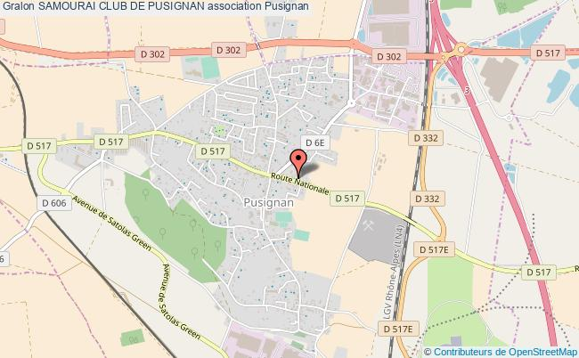 plan association Samourai Club De Pusignan Pusignan