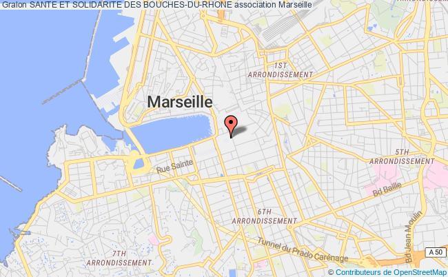 plan association Sante Et Solidarite Des Bouches-du-rhone