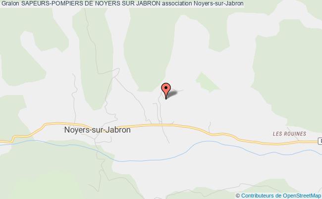 plan association Sapeurs-pompiers De Noyers Sur Jabron