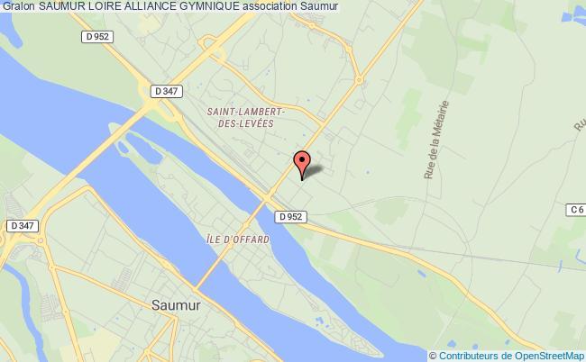 plan association Saumur Loire Alliance Gymnique Saumur