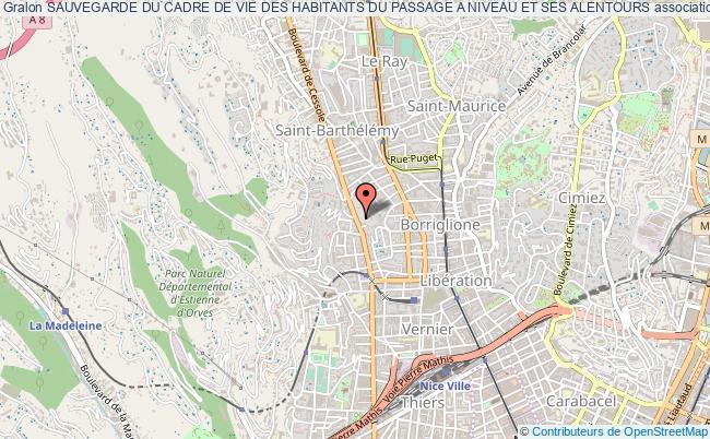 plan association Sauvegarde Du Cadre De Vie Des Habitants Du Passage A Niveau Et Ses Alentours
