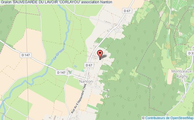 plan association Sauvegarde Du Lavoir 'corlayou'