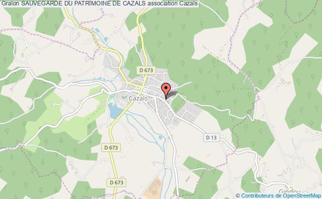 plan association Sauvegarde Du Patrimoine De Cazals