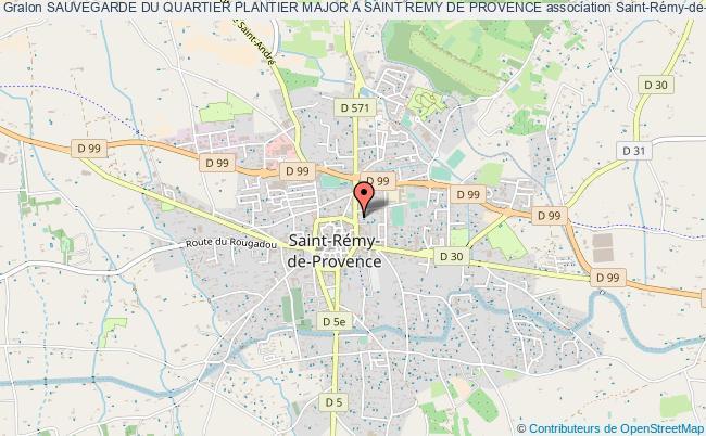 plan association Sauvegarde Du Quartier Plantier Major A Saint Remy De Provence