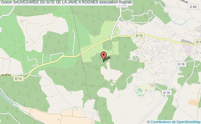 plan association Sauvegarde Du Site De La Javie A Rognes
