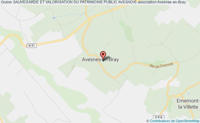 plan association Sauvegarde Et Valorisation Du Patrimoine Public Avesnois