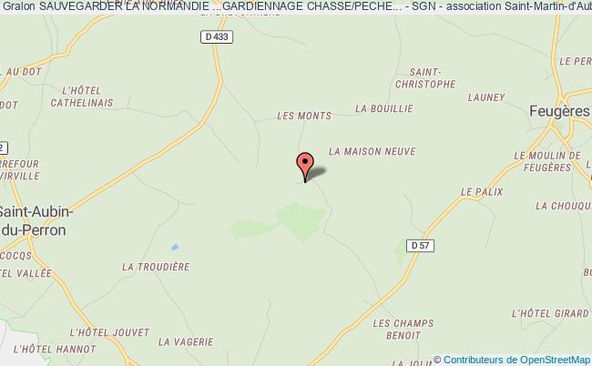 plan association Sauvegarder La Normandie ...gardiennage Chasse/peche... - Sgn - Saint-Sauveur-Lendelin