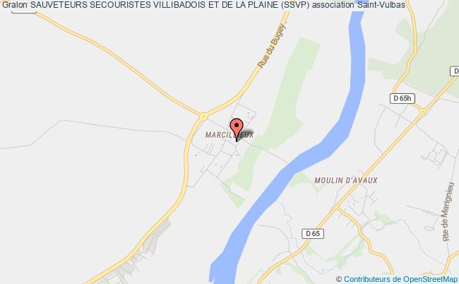 plan association Sauveteurs Secouristes Villibadois Et De La Plaine (ssvp) Saint-Vulbas