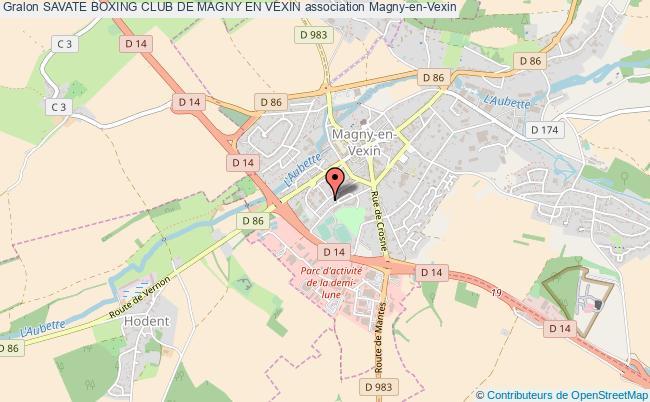 plan association Savate Boxing Club De Magny En Vexin Magny-en-Vexin
