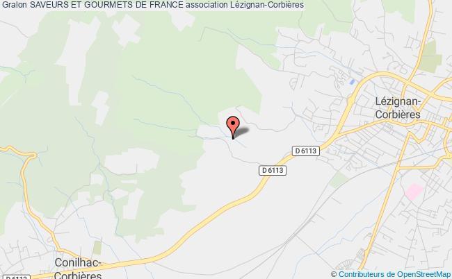 plan association Saveurs Et Gourmets De France Lézignan-Corbières