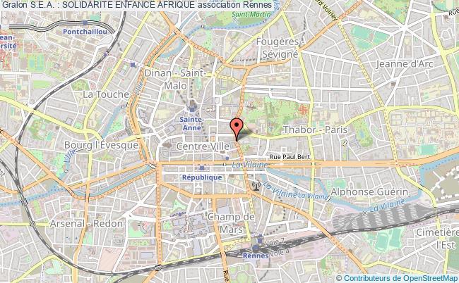 plan association S.e.a. : Solidarite Enfance Afrique Rennes