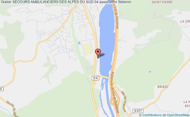 plan association Secours Ambulanciers Des Alpes Du Sud 04