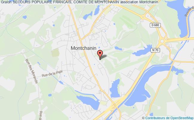 plan association Secours Populaire Francais, Comite De Montchanin