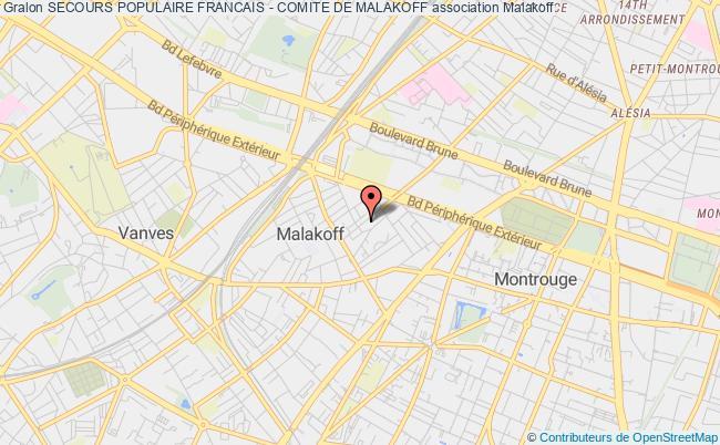 plan association Secours Populaire Francais - Comite De Malakoff Malakoff