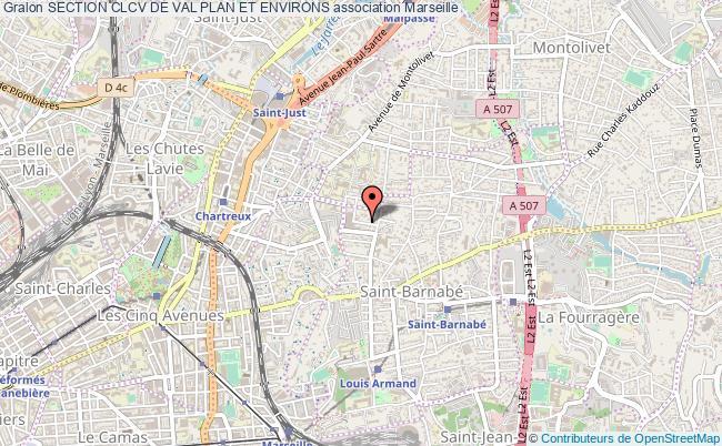 plan association Section Clcv De Val Plan Et Environs Marseille