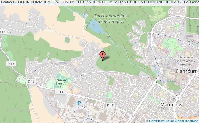 plan association Section Communale Autonome Des Anciens Combattants De La Commune De Maurepas Maurepas