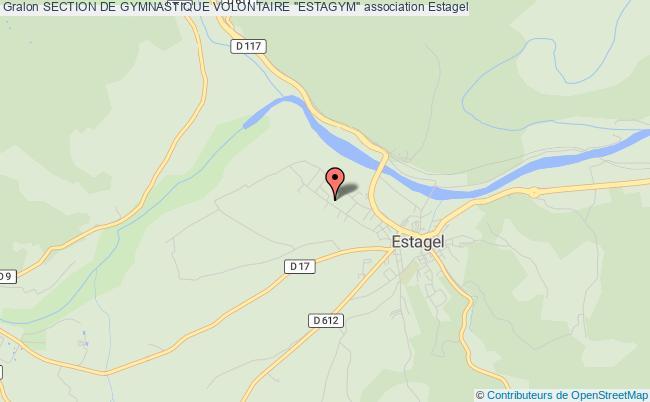 """plan association Section De Gymnastique Volontaire """"estagym"""""""