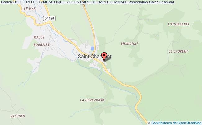 plan association Section De Gymnastique Volontaire De Saint-chamant