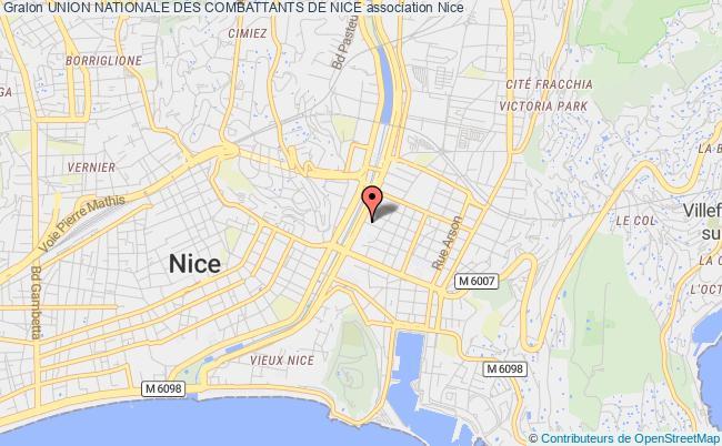 plan association Section De Nice De L'union Nationale Des Combattants Nice