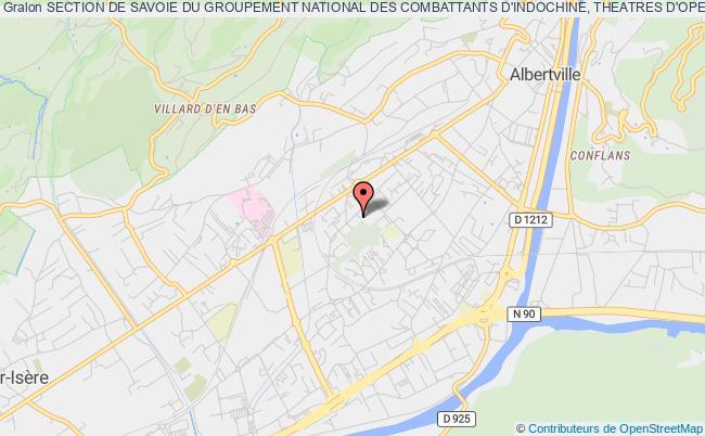 plan association Section De Savoie Du Groupement National Des Combattants D'indochine, Theatres D'operations Exterieurs Et Operations Exterieures (gnci-t.o.e. Et Op.ex.)