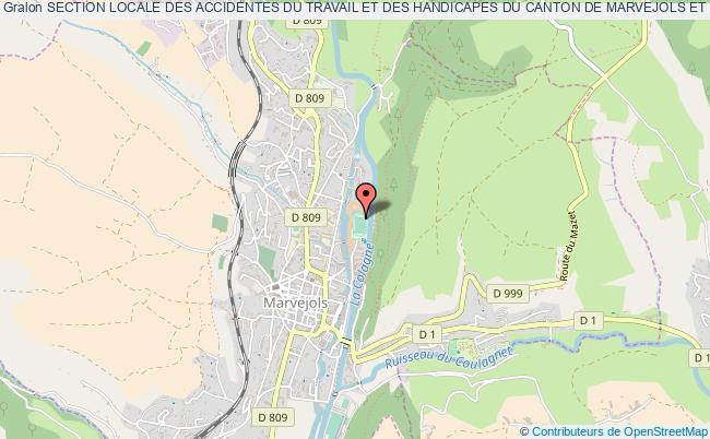 plan association Section Locale Des Accidentes Du Travail Et Des Handicapes Du Canton De Marvejols Et Des Environs