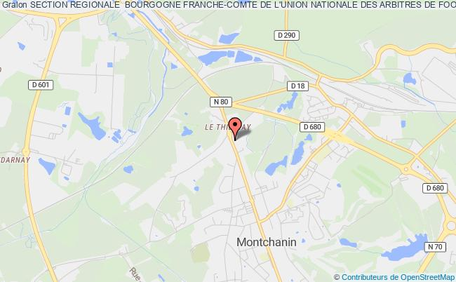 plan association Section Regionale  Bourgogne Franche-comte De L'union Nationale Des Arbitres De Football