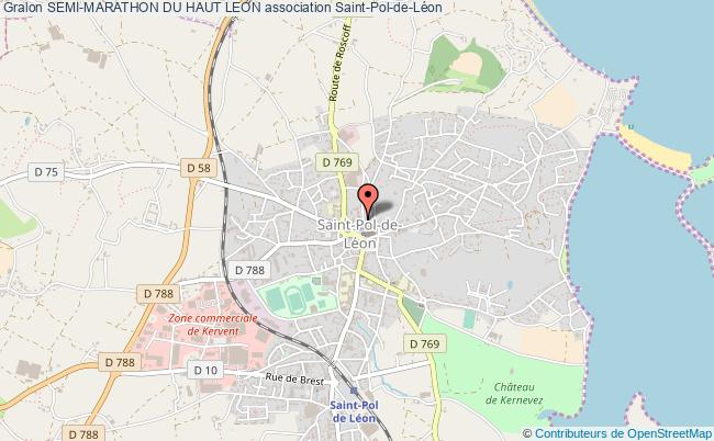 plan association Semi-marathon Du Haut Leon Saint-Pol-de-Léon