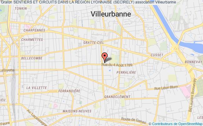 plan association Sentiers Et Circuits Dans La Region Lyonnaise (secirely)