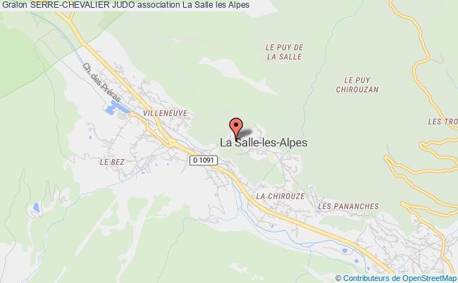 plan association Serre-chevalier Judo La Salle les Alpes