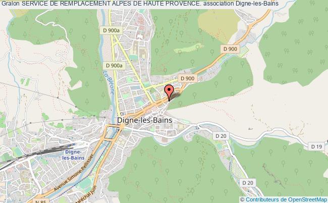 plan association Service De Remplacement Alpes De Haute Provence.