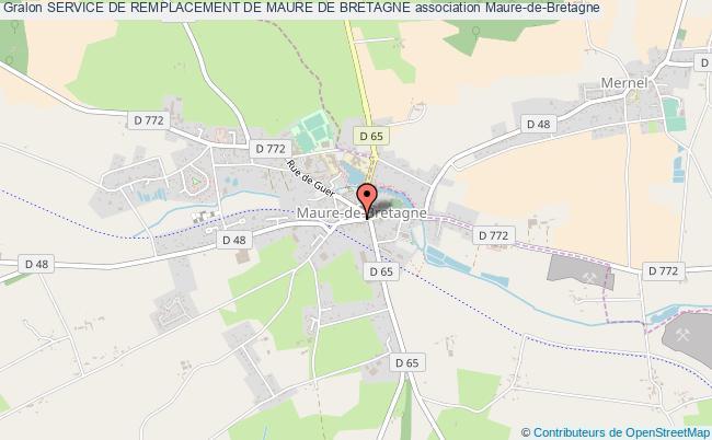 plan association Service De Remplacement De Maure De Bretagne
