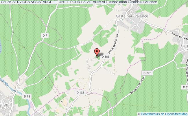 plan association Services Assistance Et Unite Pour La Vie Animale Castelnau-Valence