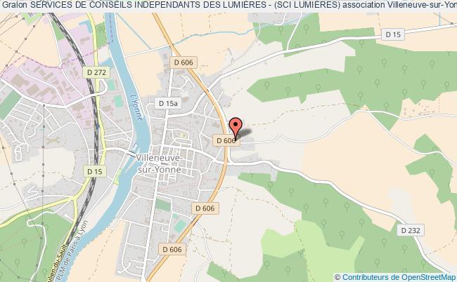 plan association Services De Conseils Independants Des LumiÈres - (sci LumiÈres) Villeneuve-sur-Yonne