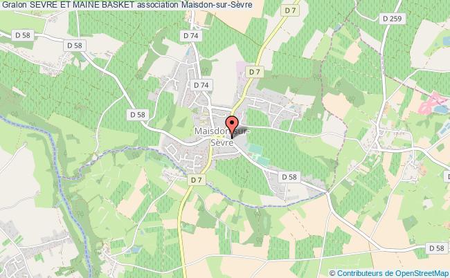 plan association Sevre Et Maine Basket Maisdon-sur-Sèvre