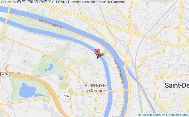 plan association Shinjigenkan Institut France Asnières-sur-Seine