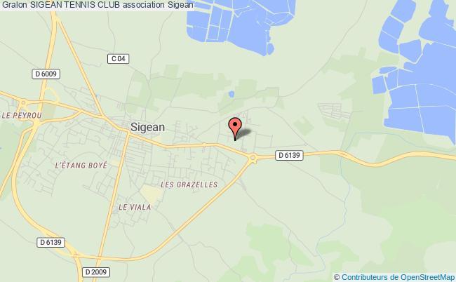 plan association Sigean Tennis Club Palme