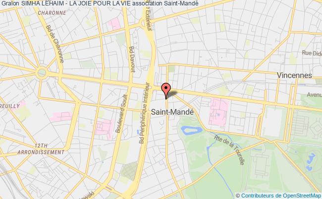 plan association Simha Lehaim - La Joie Pour La Vie Saint-Mandé